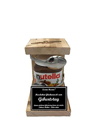 *Herzlichen Glückwunsch zum Geburtstag - deinen nächsten Geburtstag feiern wir wieder - Eiserne Reserve ® Löffel mit Nutella Geschenk - Corona Virus