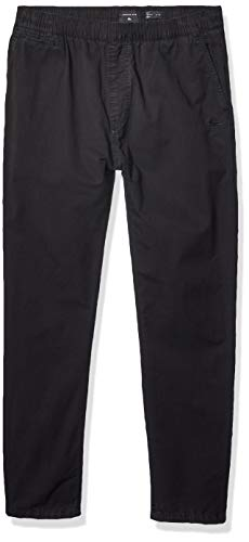 Quiksilver Men's HUE Hiller Elasticated Pants, Black, L