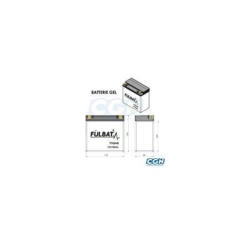 DIN51201 YT14B-4 wartungsfreie SLA-GEL Fulbat Batterie Yamaha FZS 1000 Fazer S FT14B-4