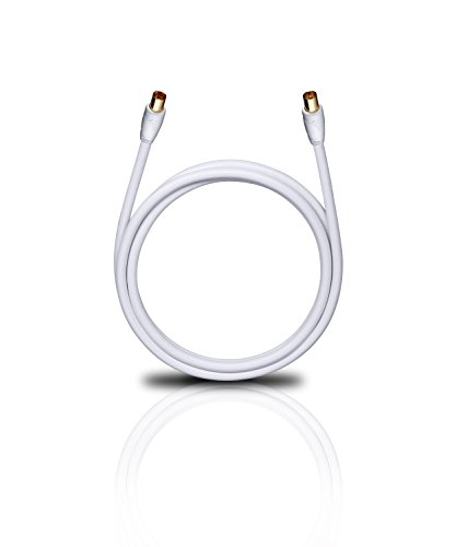 Oehlbach Easy Connect Antenna HD - Antennenkabel für TV und Radio - Koaxialstecker m/w, DVB-T2, HDTV, 4K & Ultra HD - 2 Meter weiß