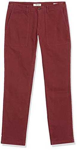 Amazon Brand – Goodthreads Men's Skinny-Fit Stretch Canvas Utility Pant, Burgundy 32W x 28L