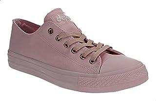 حذاء رياضي قماش بتصميم منخفض ورباط للنساء من ديجافو