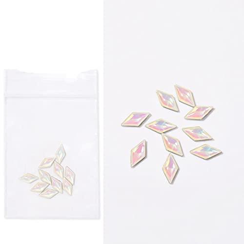 1 borsa 3D cristalli trasparenti per unghie strass bianco nero colore piatto retro vetro indumento nail design manicure nail art decorarion