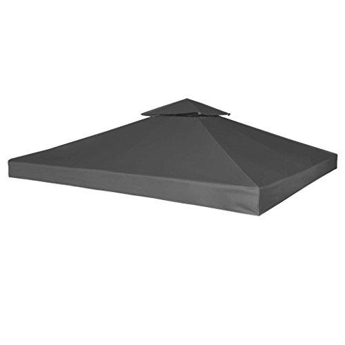 SENLUOWX Bâche Couverture Tente pavillon 270 g/m² Gris foncé 3 x 3 m 100% imperméable avec PVE de Couverture