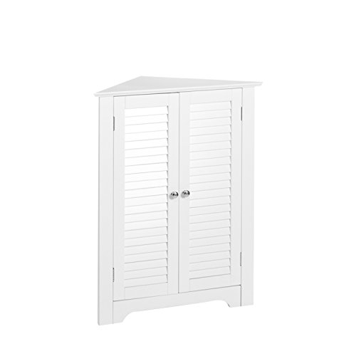 RiverRidge 3-Shelf Corner Cabinet, White