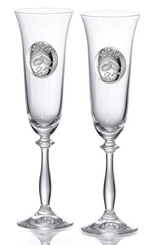 Copas personalizadas para bodas de plata cristal Bohemia