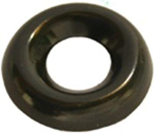 Clipsandfasteners Inc 100#8 Countersunk Finish Washer Black Zinc Plated Brass