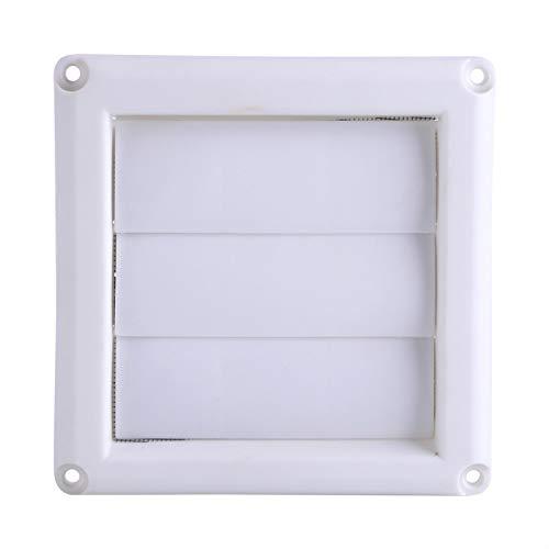 1PC Louver Plastic Air Outlet Vent Grille Cover 3 Flaps Wall Duct Ventilación Grill con red Nuevo difusor de suministro ajustable para rejilla de techo Pantalla blanca para baño (El 15 * 15cm)