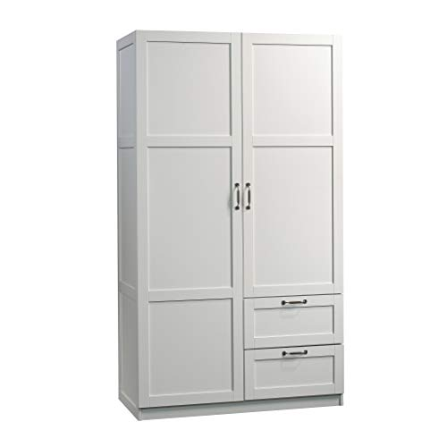 "Sauder 420495 Storage Cabinet, L: 40.00"" x W: 19.45"" x H: 71.10"", White finish"