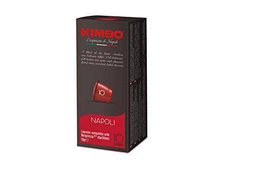 Kimbo Napoli Kaffeekapseln, kompatibel mit Nespresso, 10 Packungen mit 10 Kapseln (insgesamt 100 Kapseln)