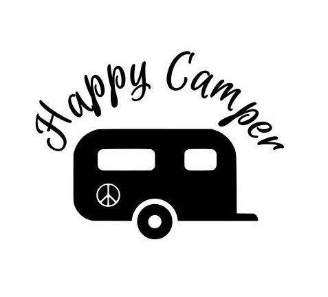Diuangfoong Pegatina Happy Camper calcomanía para tu coche, camión, ventana, pared, teléfono, tableta, paz 540# 10 pulgadas
