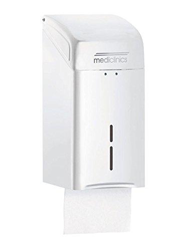 Mediclinics DTH100 Dispenser Carta Igienica Intercalata, Bianco