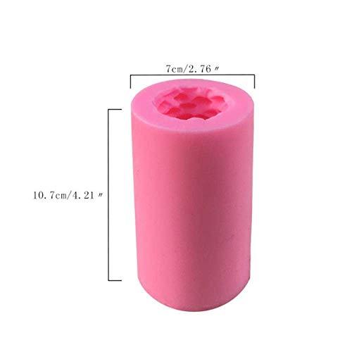 Herramientas para Hornear, Utensilios de Cocina Molde 3D Árbol de Navidad Vela Molde de Silicona Jabón Molde de baño