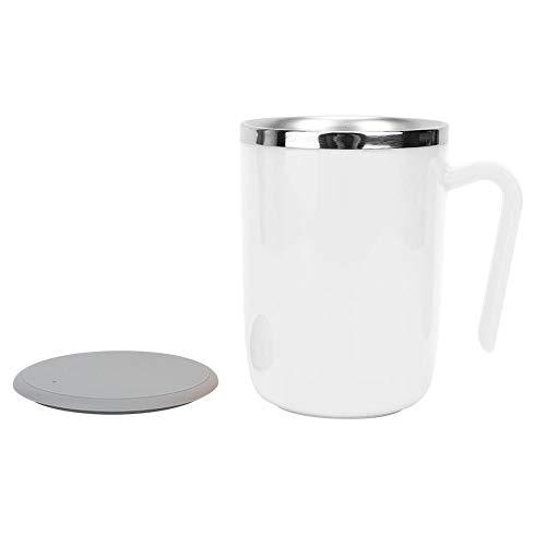 マグネティックセルフスターリングコーヒーマグ304ステンレススチールハンドル付き自動混合コーヒーマグと蓋付きカップ付きホットチョコレートミルクコーヒー用断熱断熱カップ(バッテリーなし)360ml(1#)