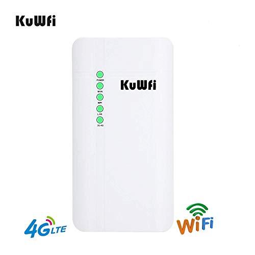 KuWFi Outdoor WLAN-Router CPE 4G LTE mit Slot für SIM-Karte Router CAT4 SIM 150 Mbps für Haus/Büro Easy Setu bis (Version EU B1/B3/B7/B8/B20)