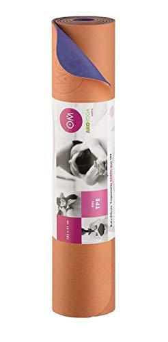 Yogamatte TPE 2-farbig orange/lila, lila/orange