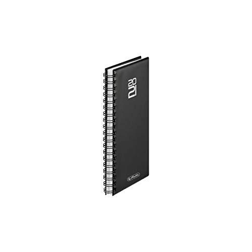 herlitz 50030019 Spiralkalender Folie 2021, schwarz, 1 Stück