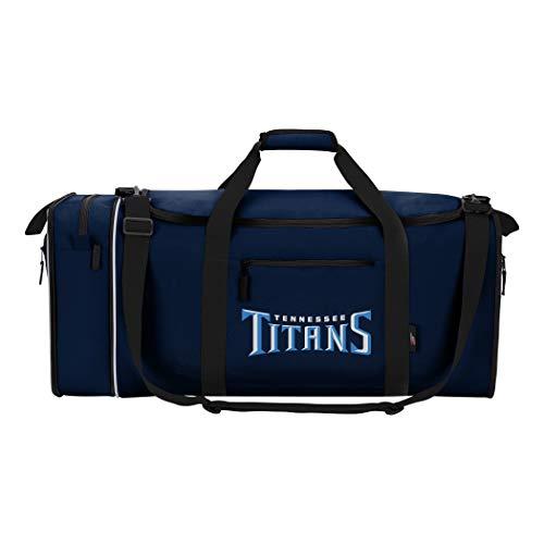 NFL Tennessee Titans NFL Steal Duffel, Marineblau, Maße: 71,1 cm lang, 27,9 cm breit und 30,5 cm hoch.