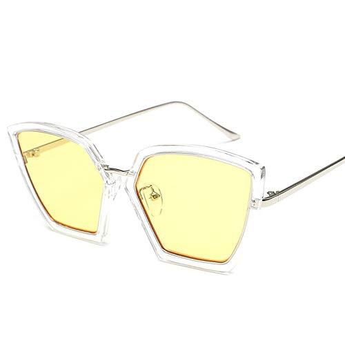 zxldsjhd Gafas de sol Cara redonda Marea Modelos femeninos elegantes Personalidad Gafas retro