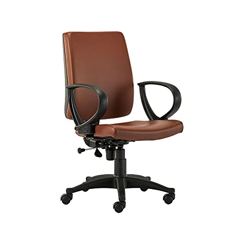HOF ECO-303 Series Computer Student Study Chair, Cushion Mid Back Base Office Executive Chair for Home/Work, Leatherette Seat...