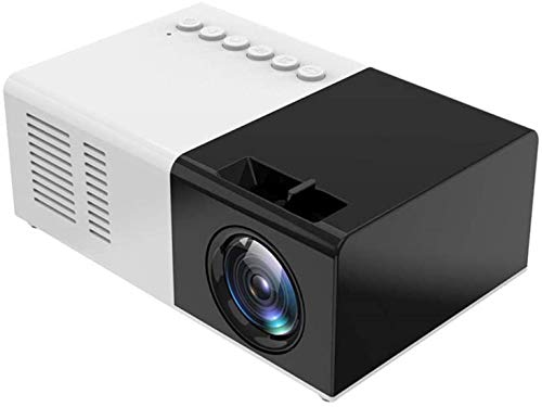 Smart mini projector, Supported video projector with 1600 lumens and 1080P Built-in speakers 30,000 hours Portable LED Projector Compatible with USB / HDMI / TF / AV / VGA For home theate...