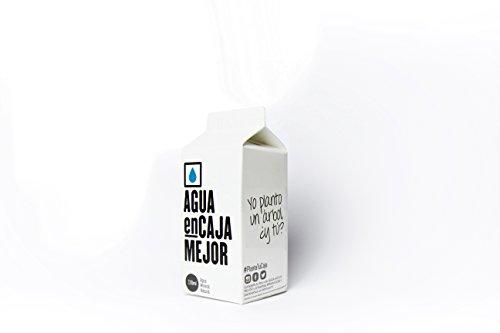 Agua enCaja Mejor Caja de 24 unidades de 330ml - Agua Mineral Natural de calidad Premium. Envase de cartón 94% origen Vegetal. 100% Reciclable