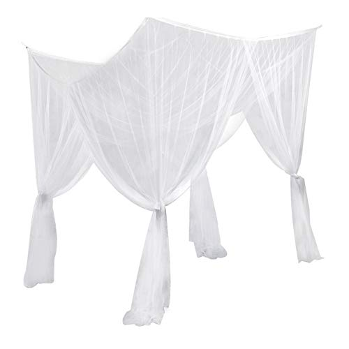Pretty Comy Mosquito Net,Mosquito Net for Bed Canopy 4 Corner Summer Bed Canopy Large Bed Netting Curtain Mosquito Net