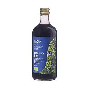 El Zumo Orgánico de Arándano Azul Silvestre, 500 ml, 100% Obtenido Directamente de Bayas Exprimidas, Sin Azúcar Añadido, Sin Agua Añadida, Elaboradas de Forma Artesanal en Los Bosques Nórdicos