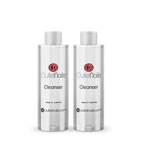 2 x Cleaner para Gel 100ml Aroma Cherry - Eliminar la capa pegajosa de geles UV y Led/Esmaltes permanentes/Esmaltado Permanente/Cleanser para uñas de gel