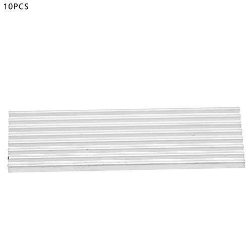 Heatsink Aluminium Warmtebak, Goede Corrosiebestendigheid en Corrosiebestendigheid, 5 Stks, Geschikt voor Ssd M.2 2280.22 * 3 * 70mm, Wit