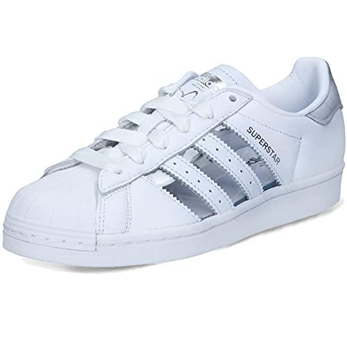 adidas Superstar W, Zapatillas Deportivas Mujer, FTWR White Silver Met Core Black, 41 1/3 EU