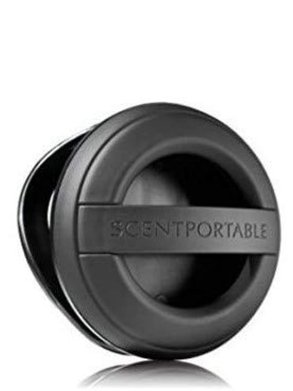 不屈浮浪者アルファベット【Bath&Body Works/バス&ボディワークス】 クリップ式芳香剤 セントポータブル ホルダー (本体ケースのみ) ブラックラバー Scentportable Holder Black Rubber [並行輸入品]
