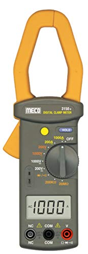 Naafie 3150+ Meco Manual Ranging Digital Clamp Meter WIth 1000V AC/DC & 1000Amp AC / 2000 Count