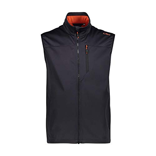 CMP Herren Weste Softshellweste Antracite-Red Orange, 54, 30A9317