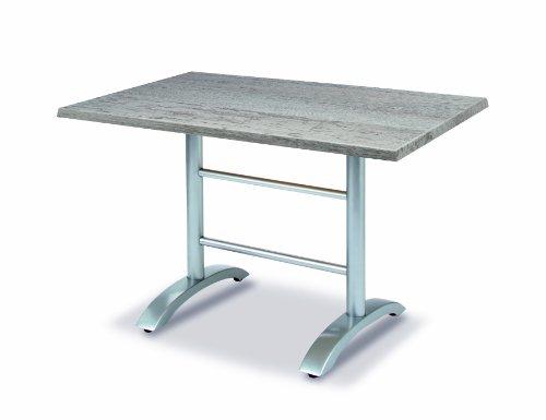 BEST 43541289 Tisch Maestro rechteckig 120 x 80 cm, silber/Montpellier