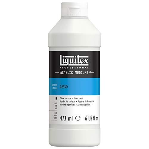 Liquitex 5316 Professional Gesso, Grundierung für Acrylfarben, licht und alterungsbeständiger Primer, gebrauchsfertig - 473ml Flasche, weiß