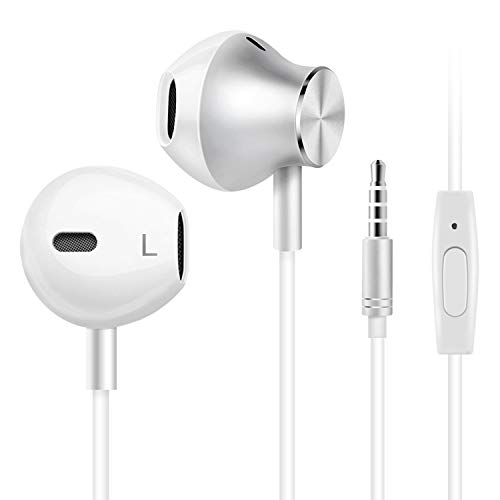 Wired Headphones, Amoner Earbuds Waterproof Sports Headphones, Stereo Sound Headsets Earbuds with Microphone for Phone 6/6s Plus/5s/SE, Galaxy, Android Smartphones, Tablets