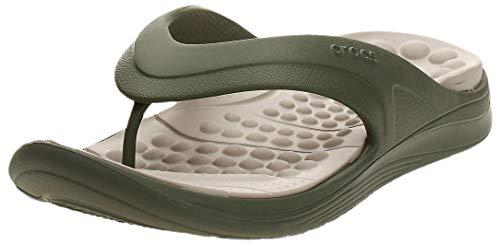 Crocs Unisex-Erwachsene Reviva Flip Zehentrenner, Grün (Army Green/Cobblestone 3tq), 48/49 EU
