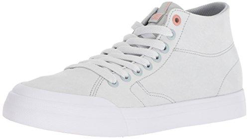 DC Women's Evan HI Zero LE Skate Shoe, Grey/Grey/Grey, 10.5 Medium US