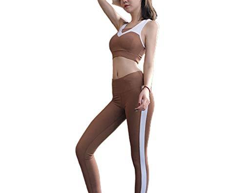 Ensemble de vêtements de Sport Extensible Fit Yoga Vêtements Fitness Respirant Séchage Rapide Running Soutien-Gorge de Yoga Stretch Suit Taille Haute Léger Confortable Hydratation, Ensemble de PY