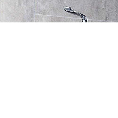 Water Tower - Grifo de latón macizo y cerámica sin plomo, grifo mezclador de válvula de baño con agua fría y caliente para el hogar, con una sola conexión, de apertura rápida, grifo de baño encima del mostrador