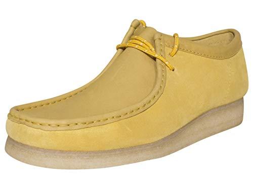 Clarks Wallabee Mocasín para hombre, Amarillo (gamuza amarilla), 42 EU