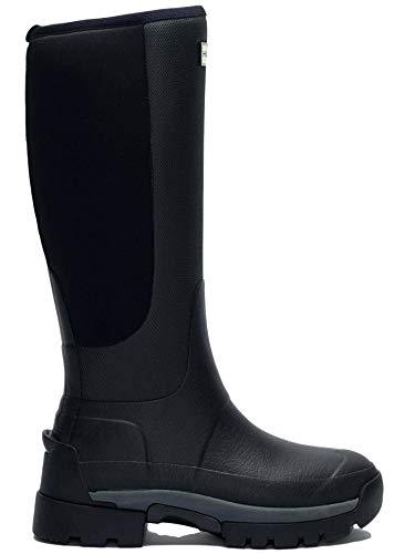 HUNTER Damen Field Balmoral Hybrid Tall Boot Schwarz, Schwarz (schwarz), 40 EU