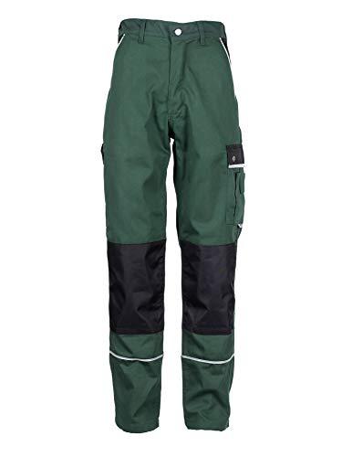 TMG® Herren Arbeitshose | Cargo Bundhose mit Kniepolster-Taschen & Reflektoren | Garten- & Landschaftsbau | Grün 48