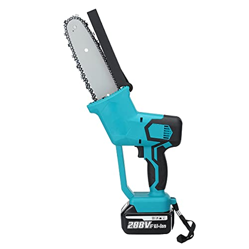 Airbike 4 Inch 1000W Mini Electric Chainsaw Cordless Handheld Pruning Saw Portable Battery Wood Cutter Home Garden Logging Power Tool(Blue)
