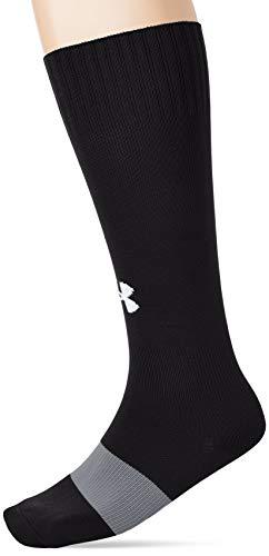 Under Armour Unisex Ua Soccer Solid Otc Sport Socken, Schwarz (Black/White (001)), L