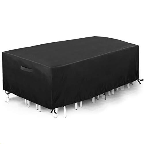 king do way Funda Mesa Jardin 230x165x80 cm,Conjuntos de Muebles Cubierta Impermeable para Sofa de Jardin, al Aire Libre, Patio, Plazas Funda para Sofa de Esquina, Poliéster Oxford de 600D