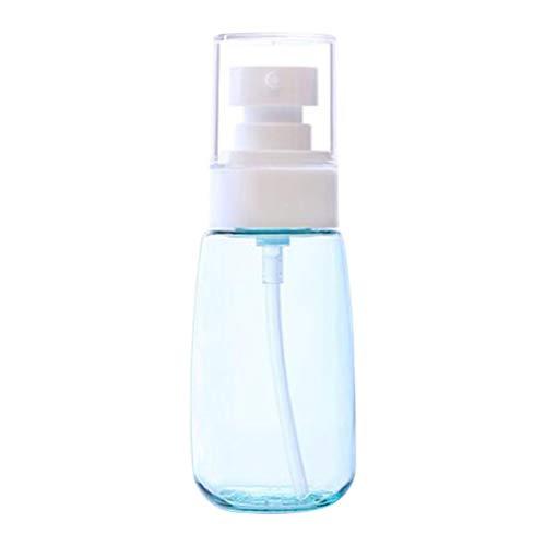 Lurrose Lot de 12 mini flacons à pompe en plastique transparent rechargeables pour lotion, crème, huile essentielle, savon de voyage Petit récipient 60 ml