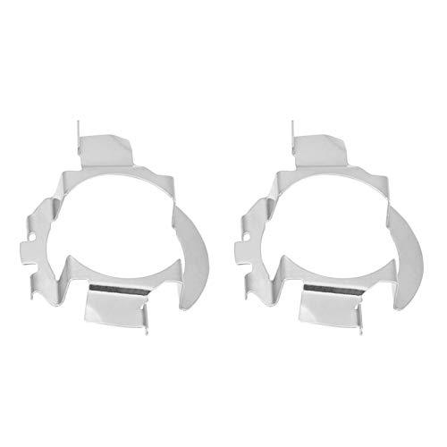 Adaptador de faro LED automático 1 par de portalámparas de faro H7 automático para A3 A4L A6L Serie 5 X5 Clase E Clase ML
