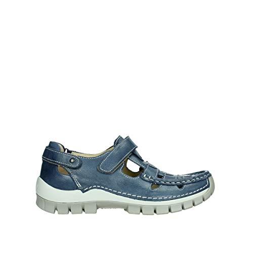 Wolky Comfort Riemchenschuhe Move - 35870 blau Sommer Leder - 42